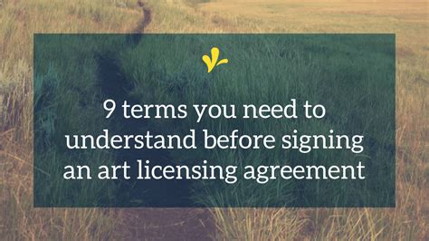 terms      signing  licensing contract