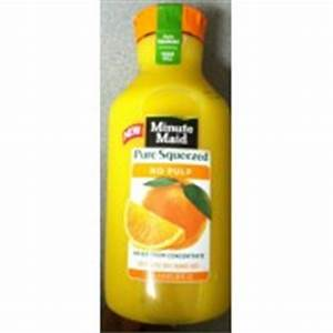 Minute Maid Orange Juice, No Pulp, Pure Squeezed: Calories ...