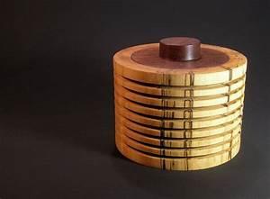 Dosen Mit Deckel : woodart rippendose aus angestockter birke mit einem deckel aus teak ~ Yasmunasinghe.com Haus und Dekorationen