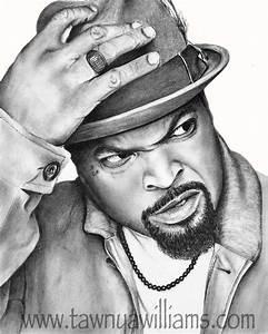 Ice Cube Drawing. Ice Cube Print. Ice Cube Art. Gangsta ...