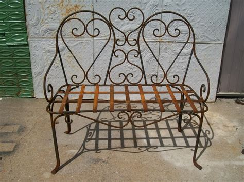 wrought iron bench patio furniture