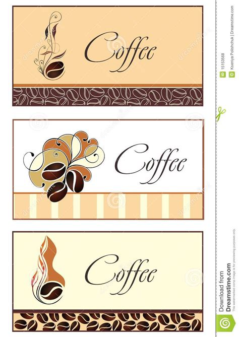 Template Designs Of Business Card For Coffee Shop Stock Vector   Image: 15153568