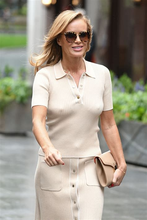 Amanda Holden Puts Perky Nipples On Show Out And About In London