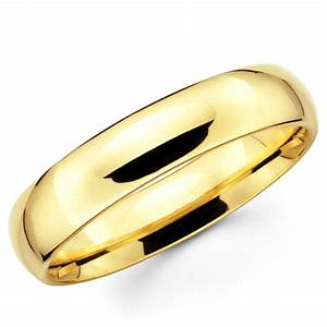 10k solid yellow gold 5mm plain men39s and women39s wedding With 10k gold ring wedding band