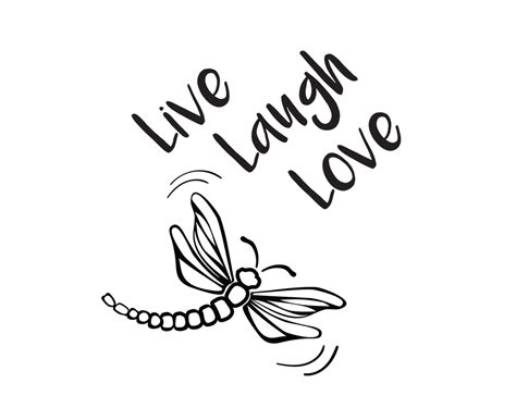 Each of our free downloads includes a free svg file, png, eps and dxf. Free SVG File Live Laugh Love Dragonfly | Svg free files ...