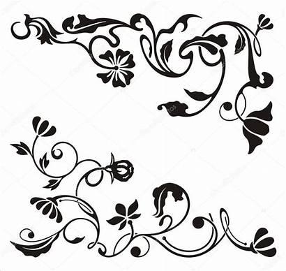Corner Ornamental Designs Vector Floral Clipart Series