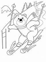Coloring Ski Skiing Hiver Ausmalbilder Coloriage Alpin Sports Kinder Printable Zum Bildern Kostenlose Malvorlagen Schnee Ausdrucken sketch template