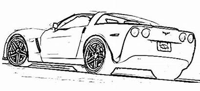 Coloring Pages Cars Acura Sports Sport Corvette