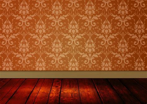 Vintage Room Damask Wallpaper Free Stock Photo   Public
