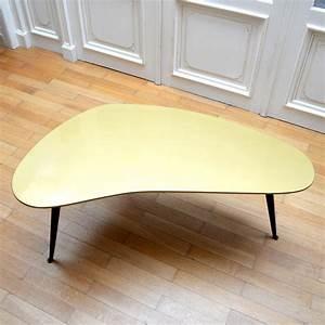 Table Basse Retro : table basse boomerang tripode vintage ~ Teatrodelosmanantiales.com Idées de Décoration