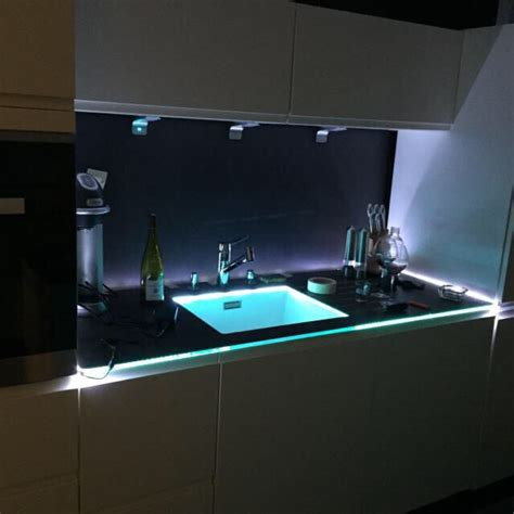 eclairage led cuisine plan de travail eclairage plan de travail cuisine du futur a anse pres de