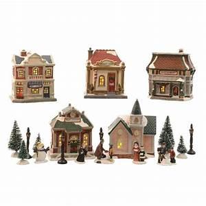 Maison De Noel Miniature : set complet village illumin finlanda village de no l lumineux eminza ~ Nature-et-papiers.com Idées de Décoration