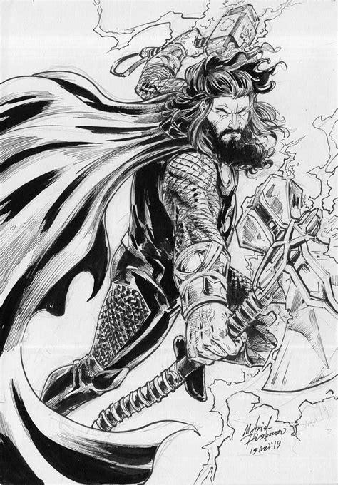 Thor Endgame, M Arief Russanto on ArtStation at https://www.artstation.com/artwork/4bdXa4   Thor