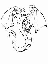 Dragon Coloring Pages Wyvern Drawing Drawings Dragons Simple Shaded sketch template