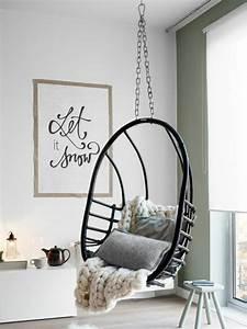 Fauteuil Suspendu Plafond : 1001 id es pour une chambre scandinave styl e ~ Teatrodelosmanantiales.com Idées de Décoration