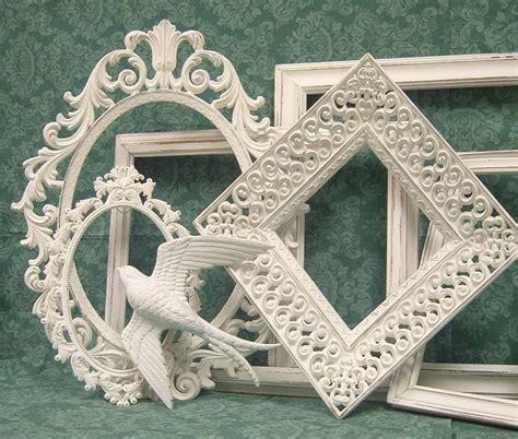 white shabby chic picture frames shabby chic picture frames white ornate collection french