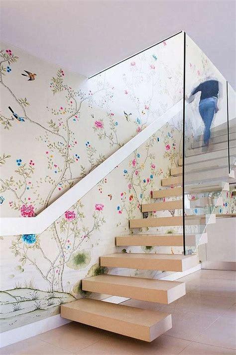 papier peint cage d escalier escalier contemporain un choix de mod 232 les en couleurs