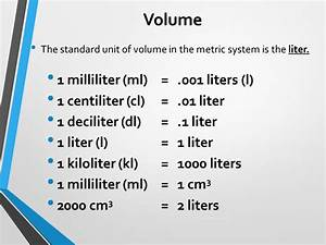 Milliliter In Cl : metric system mr d s 6th grade class ppt download ~ Yasmunasinghe.com Haus und Dekorationen