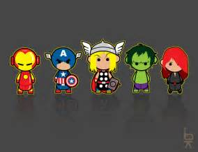 Cute Avengers Cartoon Characters