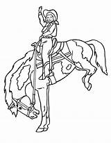 Coloring Pages Horses Cowgirls Cowgirl Horse Printable sketch template