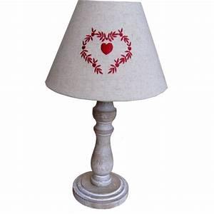 Abat Jour Lampe : lampe pied bois abat jour tissu ~ Teatrodelosmanantiales.com Idées de Décoration