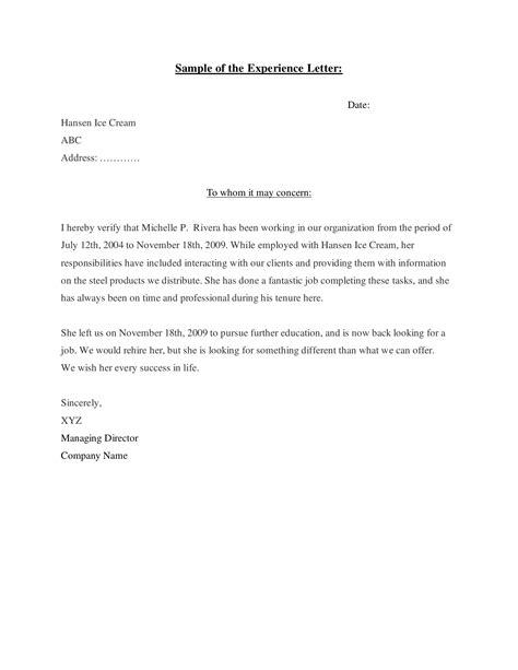 write work experience letter imageresume