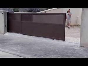Installateur De Portail Motorisé : portail coulissant t lescopique sur mesure motoris youtube ~ Farleysfitness.com Idées de Décoration