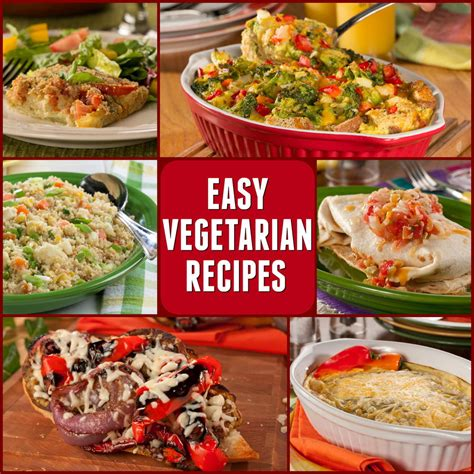 vegeterian recipes 10 easy vegetarian recipes everydaydiabeticrecipes com