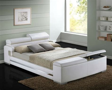 New Herman Modern White Bycast Leather Queen Or King