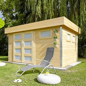 Toit En Bois : abri de jardin bois 12 8 m ep 28 mm toit plat comfy 120 ~ Melissatoandfro.com Idées de Décoration