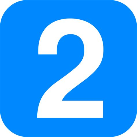 Number 2 In Light Blue Rounded Square.svg
