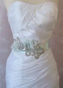 soft aqua bridal sash tiffany blue wedding belt with With tiffany blue wedding dress sash