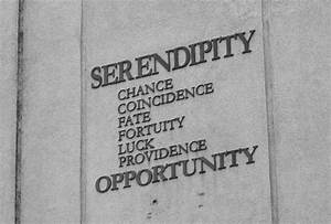Serendipity Chance Coincidence Fate Foruity Luck Providenc