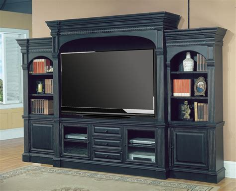 black wall entertainment center venezia