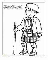 Coloring Scottish Pages Clothing Traditional Education Worksheets Cultures Worksheet Around Kilt Different Scotland Sheets Children Detailed Culture Many Globe Colouring sketch template