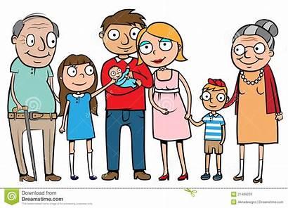 Happy Clipart Cartoon Parents Children Illustration Clip
