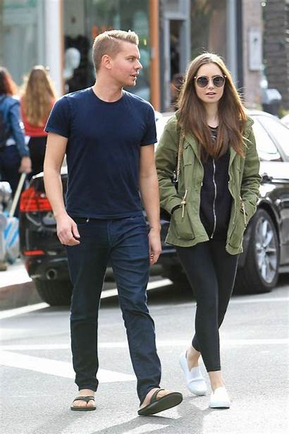 Lily Collins Harper Johnny Beverly Hills Shopping