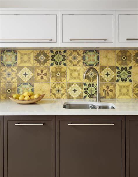 patterned tiles for kitchen photos hgtv light blue yellow tile kitchen backsplash 4108