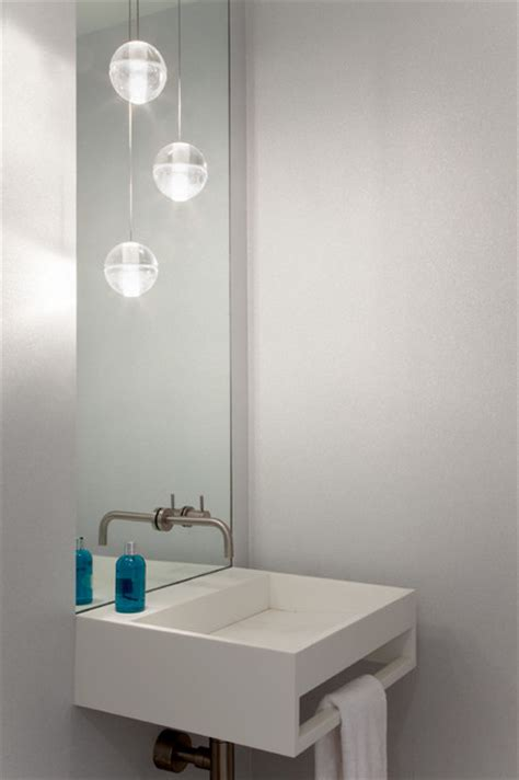 mpd residence modern powder room  york  gne