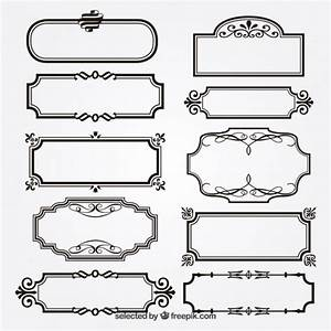 Ornamental frames Vector | Free Download