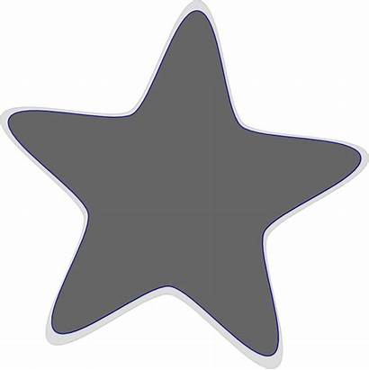 Grey Star Clip Hi Clipart Clker Vector