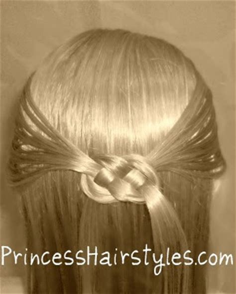 pretzel knot hairstyle hairstyles  girls princess