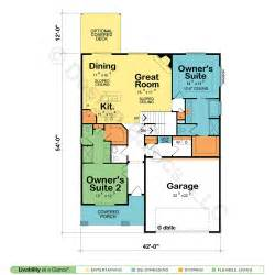 house plans with two master suites house plans with two owner suites design basics