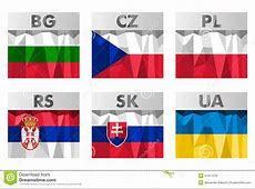 Slavic Countries Flags Stock Vector Image 47411376