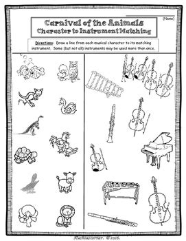 Carnival Of The Animals Fun Activity Packet (enhancement