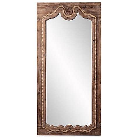 floor mirror brown howard elliott 174 37 inch x 77 inch jeremiah floor mirror in brown bed bath beyond