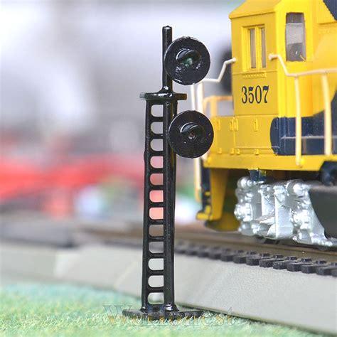 Pcs Scale Led Railroad Signals Single Aspect