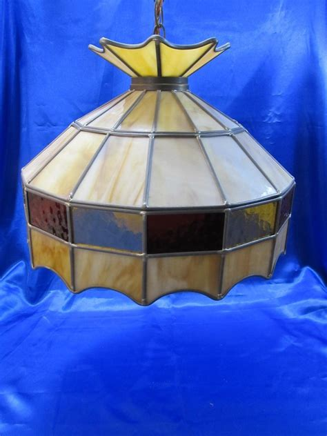 Tiffany Style Lamps Ebay by 3 Vintage Tiffany Style Hanging Light Chandelier Lamp