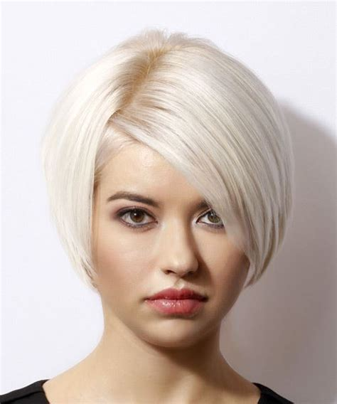 Bright Bob Hairstyles by Formal Bob Hairstyle With Side Swept Bangs