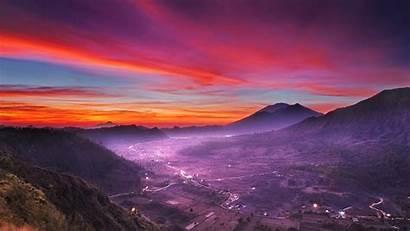 Nature Landscape Indonesia Wallpapers Pink Resolution Desktop